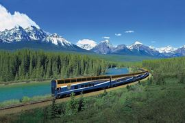 Rocky Mountaineer Aerial View