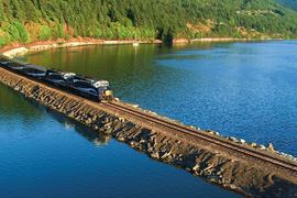 Rocky Mountaineer Train River Crossing